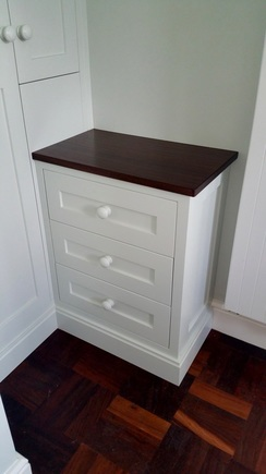 Bespoke hand painted bedroom drawers