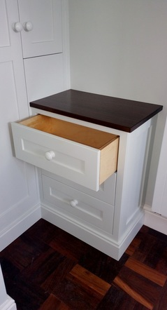 Bespoke Hand Painted Bedroom Drawers, Cheshire